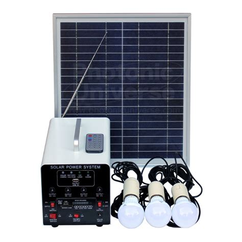15w solar lighting system 3 lights solar panel battery