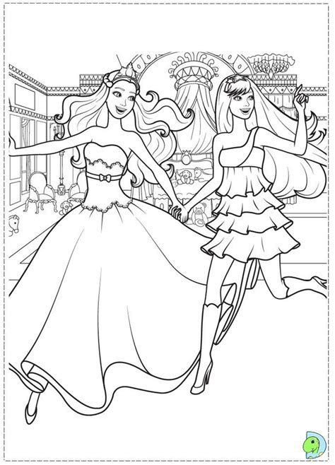 barbie  princess   popstar coloring page dinokidsorg