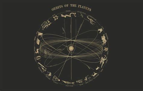 Обои орбита, солнце, планеты, созвездия картинки на