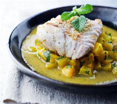 cuisiner du cabillaud recette dos de cabillaud aux pêches 750g