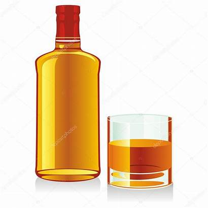 Whiskey Bottle Glass Whisky Isolated Whiskyflasche Clipart
