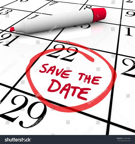 Words Save Date Written On Big Stock Illustration