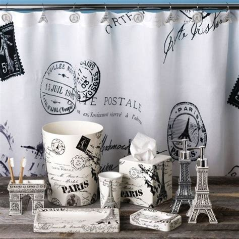 paris shower curtain  accessories mom pinterest