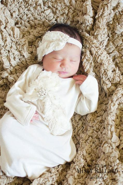 Take me Home Outfit Gown in Vintage Ecru Ivory Feather for