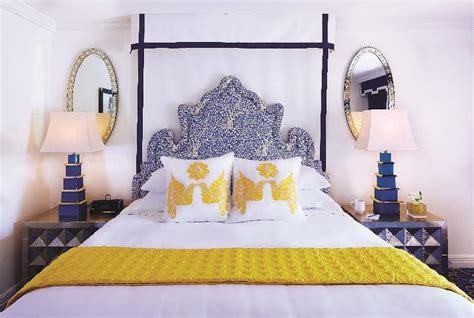 yellow  blue bedrooms contemporary bedroom