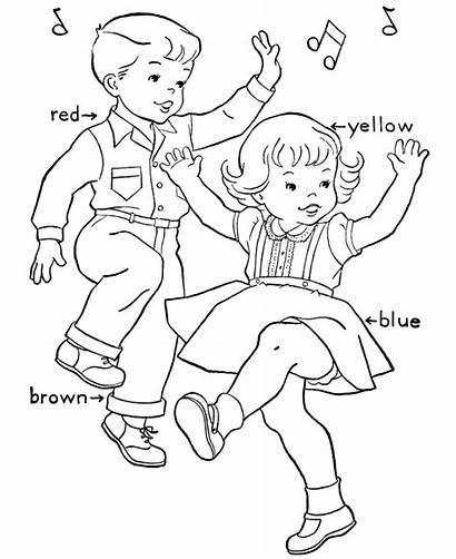 Coloring Pages Dancing Birthday Dance Colouring Printable