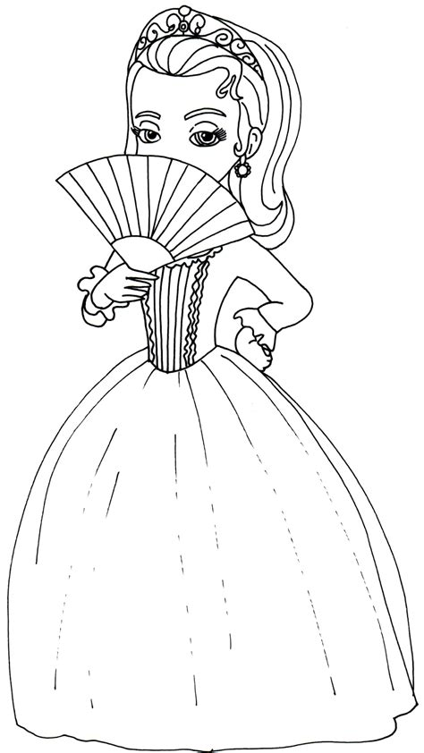 sofia   coloring pages princess amber sofia   coloring page