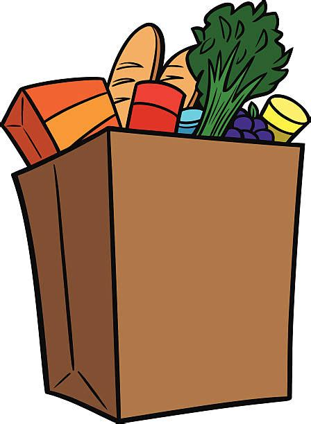 Grocery Store Clipart Bag Clipart Supermarket Shopping Pencil And In Color Bag