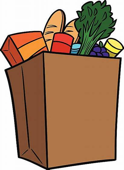 Grocery Bag Clipart Clip Groceries Shopping Graphics