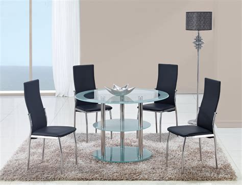 contrasting black  white contemporary dining room set