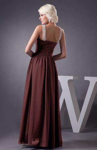 burgundy chiffon bridesmaid dress country chic summer