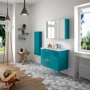 Meuble De Salle De Bain Bleu : 38 best images about meubles de salle de bain on pinterest sa feelings and 16 ~ Teatrodelosmanantiales.com Idées de Décoration
