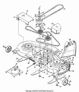 Mtd 13aq665h000  1997  Parts Diagram For Deck Assembly