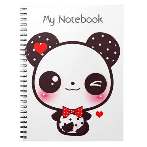 cuaderno panda de kawaii zazzle es