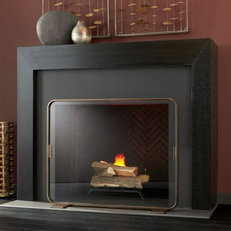 lana brass fireplace screen reviews crate  barrel