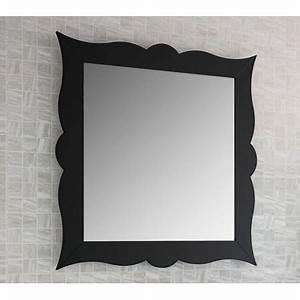 Miroir Cadre Noir : miroir de salle de bain r tro 79 cm cadre noir achat vente miroir soldes d s le 10 ~ Teatrodelosmanantiales.com Idées de Décoration