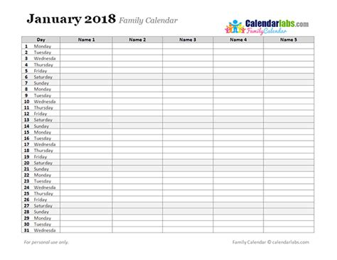 Monthly Organiser Template by 2018 Monthly Planner Template Free Printable Templates