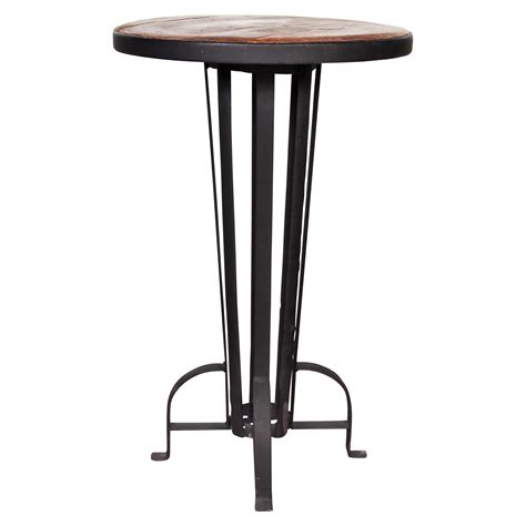 wrought iron pub table recycled wood and wrought iron bar table black rock