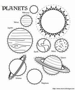 Coloriage de Découpage ou Scrapbooking, dessin planetes du