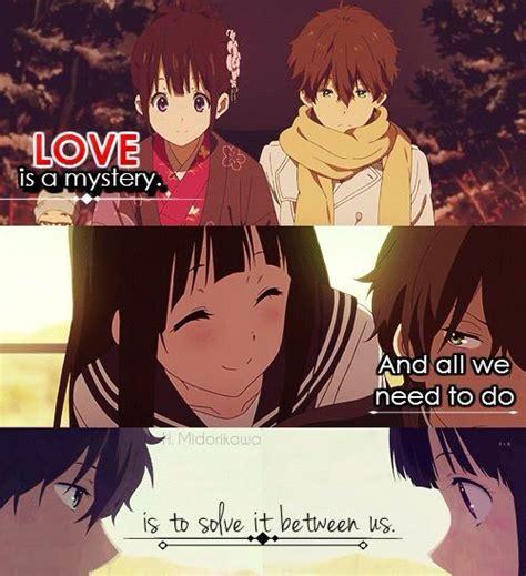 anime like hyouka with more romance 147 best chitanda x oreki images on pinterest anime