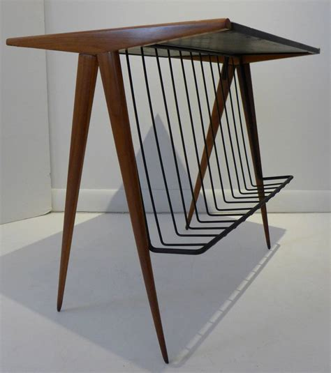 side table with l and magazine rack arthur umanoff side table with magazine rack at 1stdibs