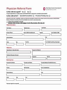 Nice medical referral form template images resume ideas for Doctor referral form template