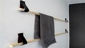 fabriquer un porte serviette sympa avec 4 euros deco cool With comment faire la couleur orange en peinture 7 diy deco comment accrocher des photos avec style