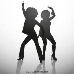 Black Disco Party Silhouettes