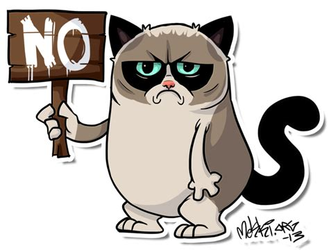 Grumpy Cat Cartoon Drawing