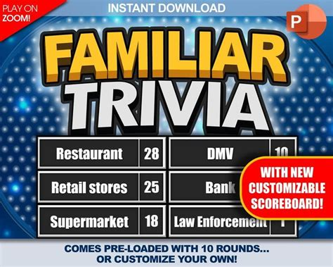 In this day and age, most people are more inclined to play games on their mobile devices ratings: Familiar Trivia Party Game Download Play on Zoom PC Mac | Etsy in 2020 | Download games, Games ...