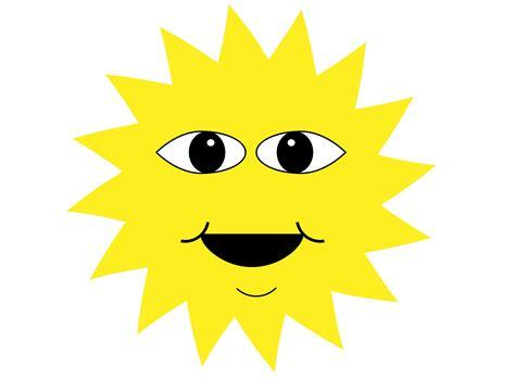Happy Sun Face Cartoon Free Stock Photo