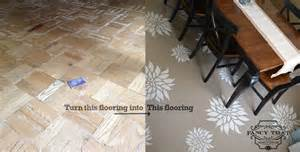 painting a wood floor project complete