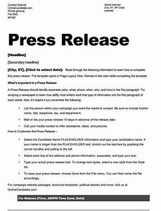 School board campaign press release template slate blue for Writing press releases template