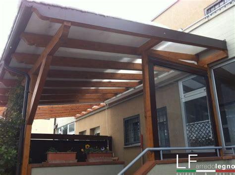 copertura tettoia economica pergolato in legno policarbonato lf arredo legno