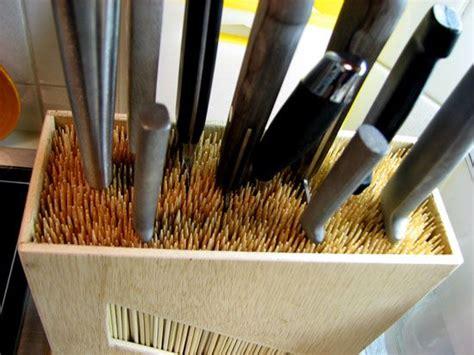 diy knife block   slots  size problems wooden