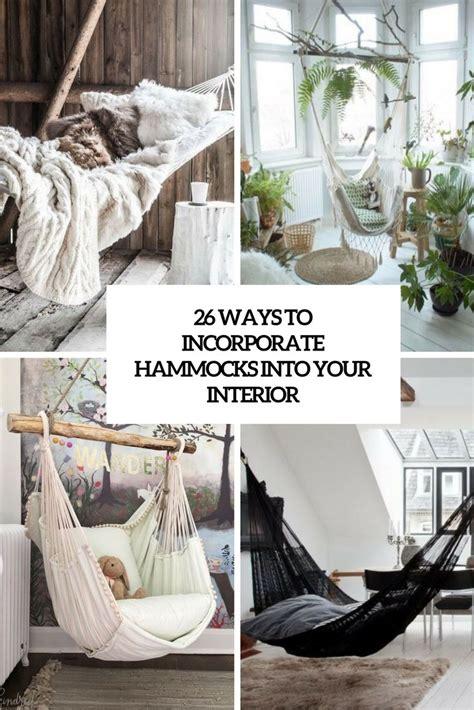 ways  incorporate hammocks   interiors cove