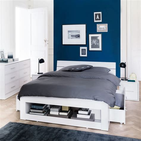 chambre adulte bleue couleurs de la chambre mobilier canape deco