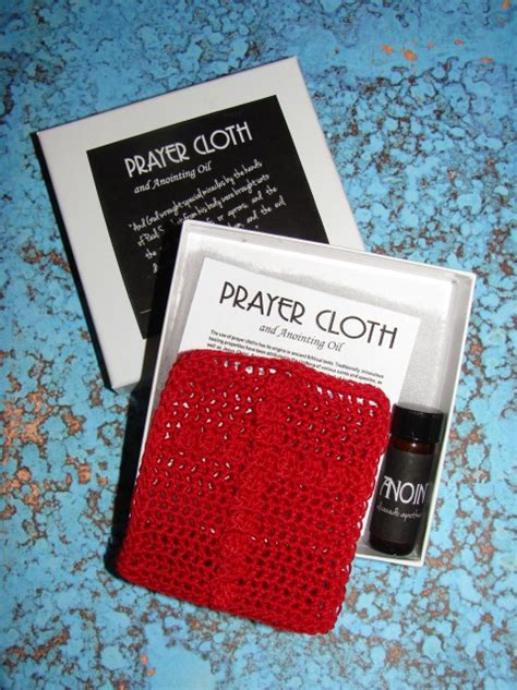 prayer cloth  anointing oil red