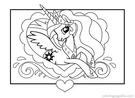 Celestia Kleurplaat My Pony by My Pony Princess Celestia Coloring Pages Pony