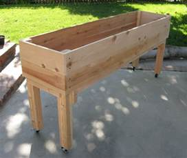 portable elevated planter patio