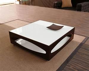 Table De Salon Carrée : table basse blanche pour salon en 20 exemples magnifiques ~ Teatrodelosmanantiales.com Idées de Décoration