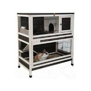 Indoor Wooden Rabbit Hutch - wooden indoor rabbit guinea pig small pet cage hutch ebay