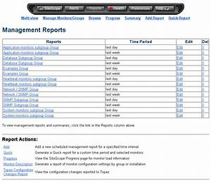 sitescope reports With sitescope templates