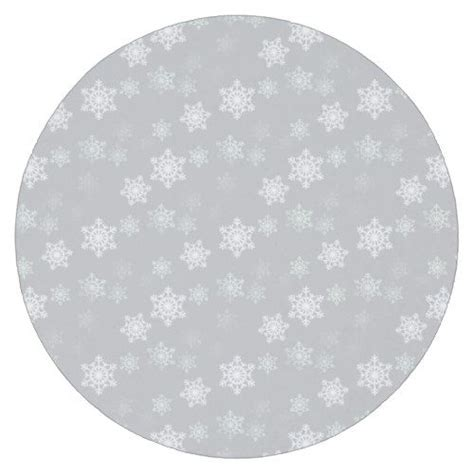 christmas silvery white snow flurries  paper coaster