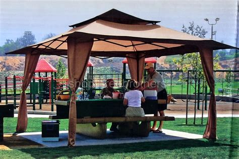 huge ez  canopy pagoda shade shelter    pop  tent