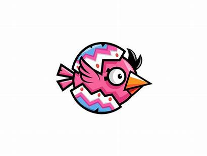 Flappy Bird Animation Egg Easter Character Flying