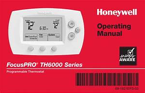 Honeywell Focuspro Th6000 Series User Manual