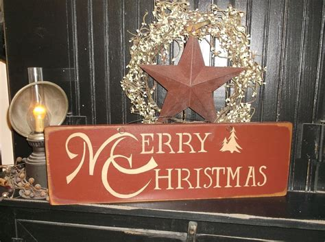merry christmas wood sign rustic prim wall decor holiday