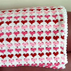 Hearts Baby Crochet Blanket - STYLESIDEA
