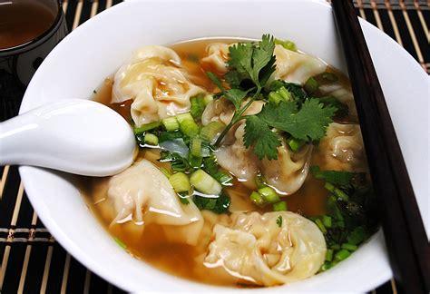 wonton soup chinese foody